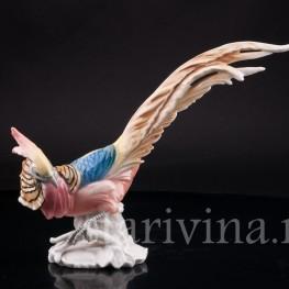 Статуэтка птицы из фарфора Золотой фазан, Karl Ens, Германия, 1920-30 гг.