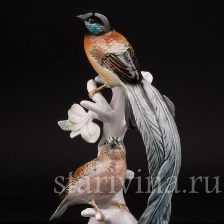 Фарфоровая статуэтка Райские птицы, Karl Ens, Германия, сер. 20 в.