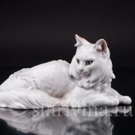 Фигурка из фарфора Ангорская кошка, Rosenthal, Германия, 1926 год.